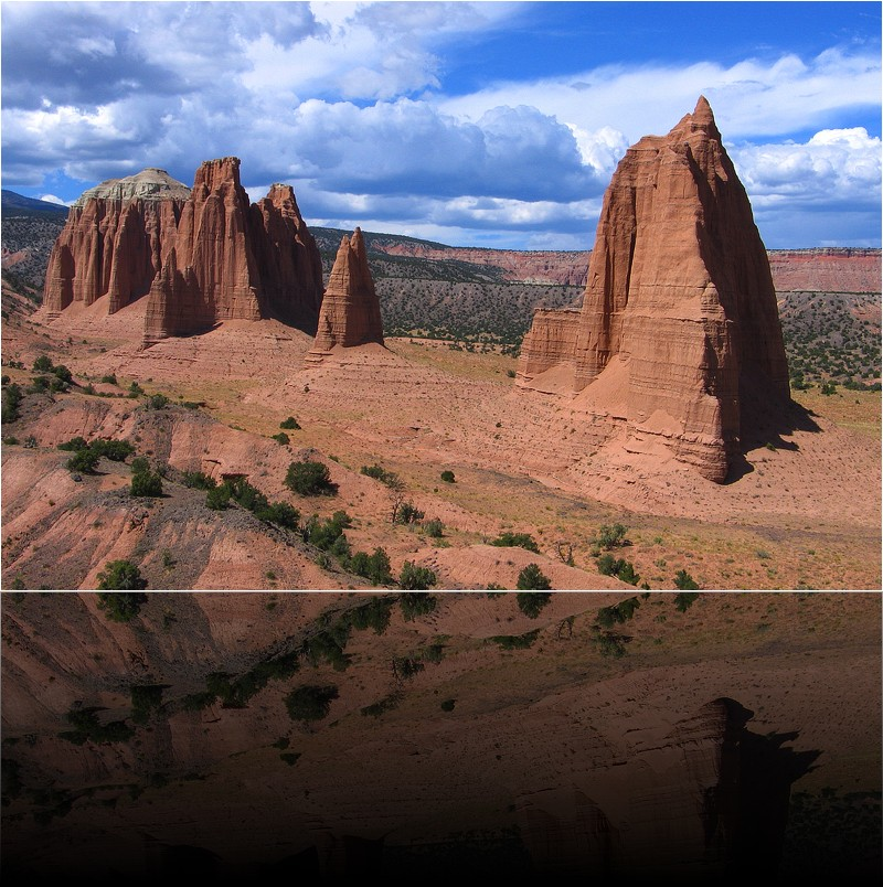 Monoliths dans cathedral valley